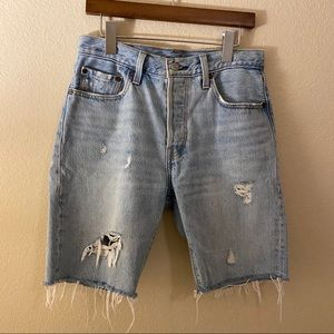Levi biker shorts
